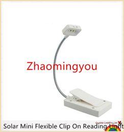 Wholesale Reader Table - YON Solar Mini Flexible Clip On Reading Light Solar   USB Charging Lamp Solar Powered Reading Emergency Light Table Lamp For Reader
