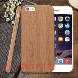 Wholesale Wood Grain Iphone Covers - Wood Grain Style back cover case for iphone 7 Plus 5 5s 6 6s 6 plus case for samsung galaxy s6 s7 edge