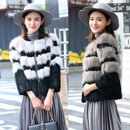 Wholesale Womens Long Fox Coats - 2018 fox fur women coats high quality long sleeves short winter thick womens outweaer coats