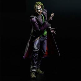 Wholesale Batman Arts - Demishop Action Figure Play Arts Kai Joker Clown Movie PVC 26cm Batman The Dark Knight Rises JOKER Doll Gift Collectible Model Anime