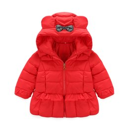 Wholesale Children Outlet - Factory Outlet!!! 2016 autumn and winter latest children down jacket girls Flounced hooded down jacket kids winter wear