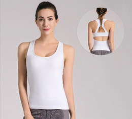 Wholesale Chest Clothes - Korean version of the new fashion fitness clothes running sportswear skin is not tight tension thin yoga pants with chest pad