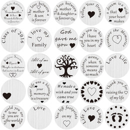 Wholesale Designs Floating Charms - Wholesale-20pcs lot Mix Design Stainless Steel Floating Locket Charms Back plate Floating Plate For Living 30mm Locket