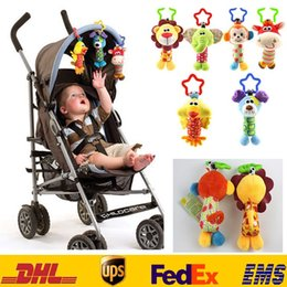 Wholesale Multicolor Bedding - Handbell Kids Newborn Infant Baby Lathe Hanging Cartoon Plush Animals Educational Toys Pram Bed Toys Gifts 0-2T HH-T19