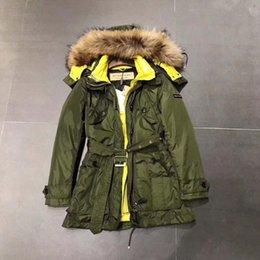 Wholesale Real Fur Hood - Winter Women Coat Jacket Warm High Quality Woman Park Jacket Winter Coat Hood Real Big Fur BERRY 2017 New Winter Collection