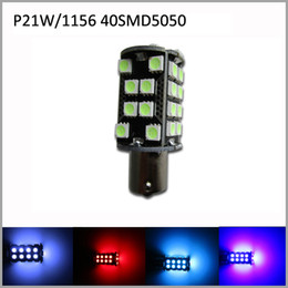 Wholesale 1156 Base - 2pcs Lot CANBus No Error P21W 1156 Base Type LED 40SMD5050 LED Car LED Turn Signal Lights