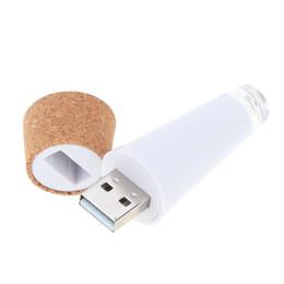 base de la luz cristalina al por mayor Rebajas Luz de botella USB recargable en forma de Corcho de luz original, Botella Lámpara de vino de enchufe LED en forma de corcho USB LED Luz de noche