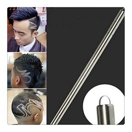 Wholesale Blade Trimmers - New RAZOR Sharp Pen Hair Tattoo Trimming Tool With Blades Salon Engraved Pen Stainless Steel Pen Shavings Eyebrows Beauty Set Free Shipping