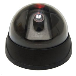 Caméras de sécurité factices en gros en Ligne-Dummy Faux Surveillance CCTV Sécurité Dôme Caméra Dôme Bureau Sécurité Caméra de Surveillance avec Flashing Rouge LED Lumière En Gros