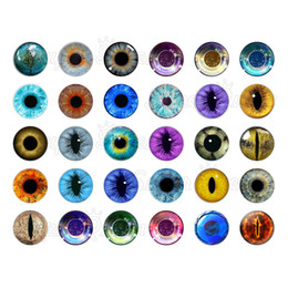 Wholesale Glass Eyes For Jewelry - 60pcs  lot pupil eyes glass snap button charm jewelry watches women for bohemian leather bracelets GS2787 one direction jewelry making