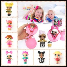 Wholesale Dress For Pvc Figures - Children Gifts LOL Surprise Dolls Dress Up Barbies Tear Pee Egg Balls SURPRISE DOLL Fidget Toys for Christmas