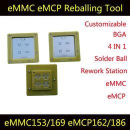 Wholesale Reball Bga - eMMC eMCP Reballing Mutiple Function Tool 4 in 1 BGA Rework Station eMMC153 eMMC169 eMCP162 eMCP186 Reball Jig Solder Ball Mounting