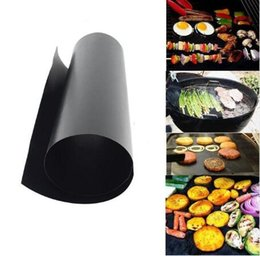 Wholesale Black Mesh Sheet - High Quality PTFE Non-stick BBQ Grill Mat Barbecue Baking Liners Reusable Teflon Cooking Sheets 33x40cm Cooking Tool