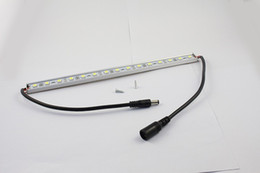 Wholesale Under Cabinet Strips - 1M 60 SMD 5050 LED Rigid Strip Light Bar Lamp Warm Cool White Under Cabinet Lighting + 3M Adhesive Tape on Back Side