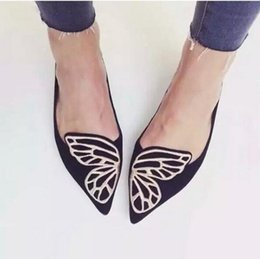 Wholesale Wholesale Designers Shoes - Wholesale-Butterfly Shoes Woman Flat Oxford Shoes For Women Slip On Loafers Designer Shoes Ladies Flats Shoes Plus Size 35-40