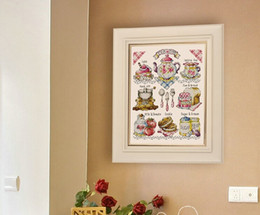 Wholesale Cross Stitch Diy Set - 100% Cotton Thread Needlework DIY Cross Stitch Sets For Embroidery Kits No Printed Charming Cake Counted Cross Stitch Sets