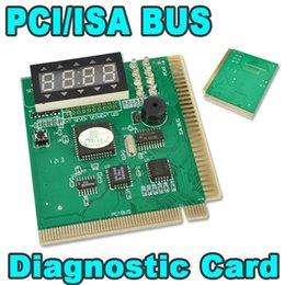 Wholesale Computer Analyzer - High Quality PCI & ISA Motherboard Tester Diagnostics Display 4-Digit PC Computer Mother Board Debug Post Card Analyzer