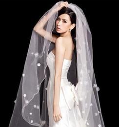 Wholesale Wholesale Cathedral Wedding Veils - wholesale beautiful Wedding Accessories 3 meters long veil bridal veil trailing veil TS001