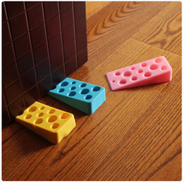 Wholesale Safe Door Stopper - Wholesale- Cartoon Cute Cheese Shape Silica Gel Door Stopper Baby Safety Supplies Protect Baby Children Kid Safe