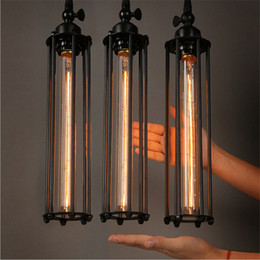 Wholesale Industry Lighting - Pendant Lights American Country Industry Retro Style Coffee Restaurant Bar Loft Pendant Lamps E27 Holder AC110V 220V