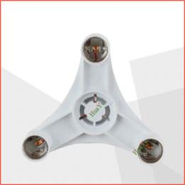 Adaptadores e27 e12 online-E27 a 3 cabezales E27 base de lámpara Lámpara de luz Bombillas Adaptador Convertidor Lámpara de lámpara E27 soporte de lámpara