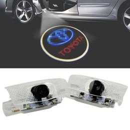 Lampe toyota en Ligne-2pcs 5w lumières de porte de voiture lumière bienvenue dédié lampe de projection lampe laser lampe de projection pour Toyota