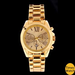 Wholesale Discount Men Watches - 20% discount All gold Famous brand M wrist gold stainless steel Men women wrist quartz watch luxury rose gold fashion watch