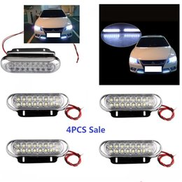 Wholesale Led Vehicle Car Day - Shockproof Double Rows LED Cars Fog Lights White Decorative Fire Engine Light Lamp for Vehicle Universal Day Fog Aux Driving Bulb JTCL006