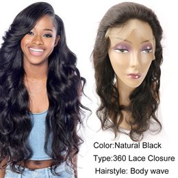 Wholesale Indian Remy Lace Frontals - Best Sale Brazilian Peruvian Malaysian Indian Raw Remy Human Hair Extensions 360 Lace Frontal Closure Body Wave Hair Weaves frontals Closure