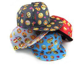 Wholesale Crochet Flat Cap Pattern - QQ Emoji pattern caps children 2016 New Baseball cap flat along Parental hip hop Emoji pattern hats