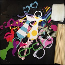 Wholesale Colorful Favors - Wholesale Colorful Fun Lip wedding decoration Photo Booth Props wedding party decoration favors Party Masks 60Pcs Set