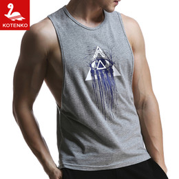 Wholesale Men Brand Vest - Wholesale-Men Tank Top Gym Fitness Singlets Brand Mens T-Shirt Sleeveless Sports Gasp Tank Hip Hop Tops Vest Shirts Summer singlets New