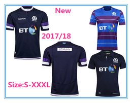 Wholesale black white strips - New 2017-2018 Scotland Rugby Jersey RWC Strip Scottish Home Away Kits Rugby JERSEYS World Cup 2017 Scotland Rugby Shirt Thailand Quality