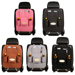Wholesale Wholesale Auto Fabric - Seat Back Storage Bag Multi-Pocket Organizer Holder Hanger auto Car Seat Back Storage Bag Sundries Holder Travel Organizing Box