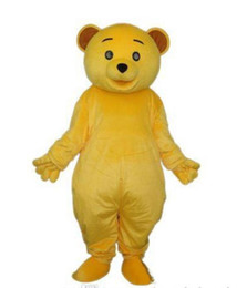 Wholesale Cheap Adult Cartoon Character Costume - 2017 High quality Cheap Golden Yellow Teddy Bear Mascot Costume Adult Size Cartoon Character Mascotte Carnival Cosply Costume