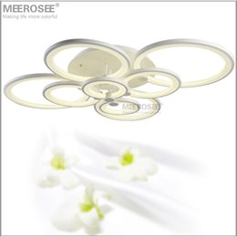 Modern LED Ceiling Lights White Acrylic Lustres Lamp Lamparas De Techo Ring For Living Room Fast Shipping