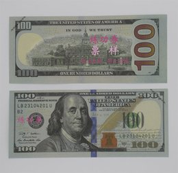 Wholesale Old Art Crafts - 100PCS USA New $100 50 20 10 5 2 Training Banknotes Bank Staff Learning Dollars Movie Props Money Commemorative Home Decoration Arts Crafts