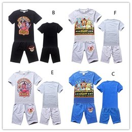 Wholesale Branded Sports Bottles - Five Nights at Freddy's Children Full Cotton Outfits Baby Kids Clothing Short Sleeve T-shirts + Pants 2pcs Casual Sport Clothing Sets 9372