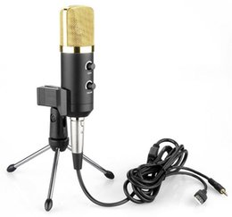 Wholesale Audio Process - 2016 MK-F100TL USB Condenser Sound Recording Audio Processing Wired Microphone with Stand for Radio Braodcasting KTV Karaoke