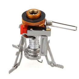 Wholesale Camping Grill Stove - S5Q Picnic Cookout Gas Furnace Burner Outdoor Camping Hiking Stainless Steel Stove AAAFYV