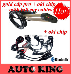 Wholesale Cdp Pro Cars Oki - Wholesale-Strongest Real with Best Oki Chip insert ! works well gold bluetooth TCS CDP pro with Full 8pcs Car cables ---DHL FREE SHIPPING!