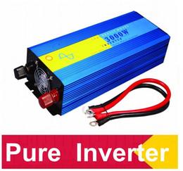 Wholesale 12 24 Inverter - DHL FedEx UPS free shipping 3000w reinen Sinus-Wechselrichter 12 volt 24 volt 12 volt home inverter 3000w pure converter