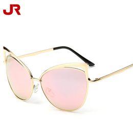 Wholesale European Sunglasses Brands - Women Sunglasses European Cat Eye Fashion Sun Glasses Metal Frame Glasses Lady Outdoor Brand Sunglasses Free DHL 125