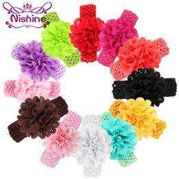 Nishine Children Hollow Out Flower Headband Headwear Toddler Infant Girls  Flower Bow Elastic Hair Bands Accessories 02eaf4caa574