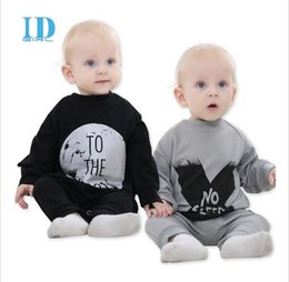 Wholesale Girls Collapse Harem Pants - Spring Autumn Baby Boy Cotton Clothes Boy And Girl Baby Rompers Baby Clothes NO SLEEP Baby Clothing Harem Style Pants Collapse 2 Colour