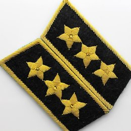 Wholesale Embroidery Collection - Spot Classic Collection Of Five Eight Navy Black Wire Embroidery General Officer Phnom Penh Collar