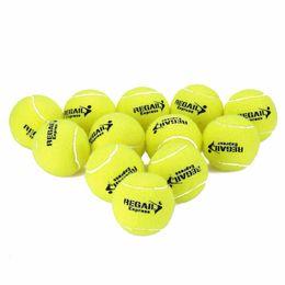 Wholesale Tennis Balls Sale - Wholesale- REGAIL High Elasticity 12pcs Tennis Training Ball Natural Rubber Tennis Ball Durable Wear Resistant Tennis Ball Bag Package Sale