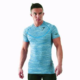 Wholesale Mens Compression Wear - 2017 Mens Gyms Clothing Fitness Compression Base Layers Under Tops T-shirt Thermal Tees Top High Flexibility Skins Gym tees Wear Sports Vest