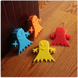 Wholesale Toys Gate - Wholesale- Hot Sale Door Stopper Toy Baby Gate Door Protect High Quality Cartoon Stopper Silica Gel Children Safety Door Children Gate 1pcs