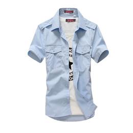 Wholesale Up Size Clothing - Wholesale-Brand Clothing 100% Cotton Short Sleeve Plus Size S-5XL Buttons Up Men's Work Uniform Shirt Camisas Para Hombre Work Shirts